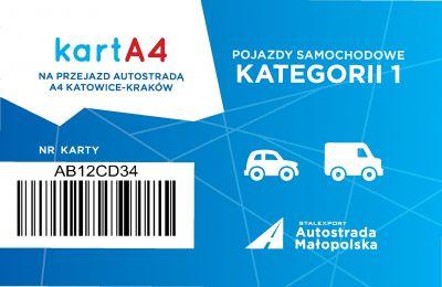 Karta dla pojazdów kategorii 1