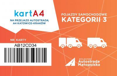 Karta dla pojazdów kategorii 3